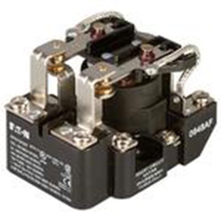 Eaton 9575H3A000 Power Relay, Open, 40A, 300VAC, 120VAC Coil, 2PDT, Type AA ()