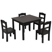 """Clearance! SEGMART Kids Play Tables and 4 Chair Set, 26"""" x 22"""" x 19"""" Solid Wood Primary Collection Kids Table & 4 Chair Sets, Art Play-Room Toddler Activity Chair for Toddlers Lego, Reading, S9188"""