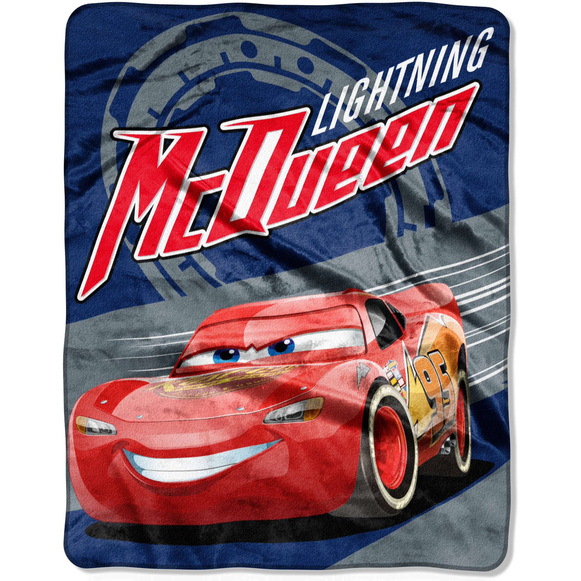 "Disney Pixar's Cars, ""Lightning on the Track"" 40""x 50"" Silk Touch Throw"