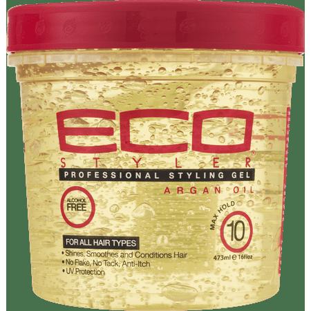 Styling Gel 16 Oz Jar ((2 Pack) Eco Style Argan Oil Styling Gel, 16)