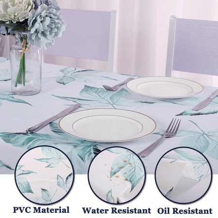"""Tablecloth PVC Oil Stain Resistant Wedding Camping Table Cloths 54"""" x 55"""", #4 - image 5 of 7"""