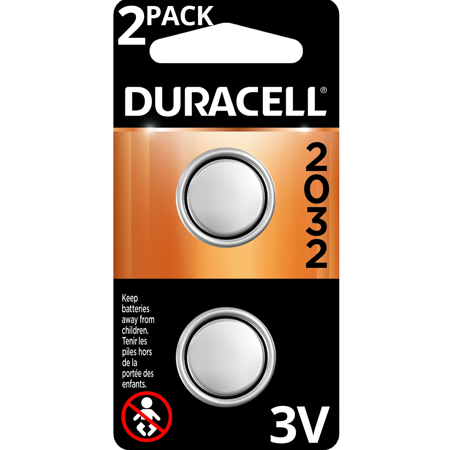 Duracell 3V Lithium Coin Battery 2032 2 Pack Long-Lasting Batteries 2032 Lithium Cell Button