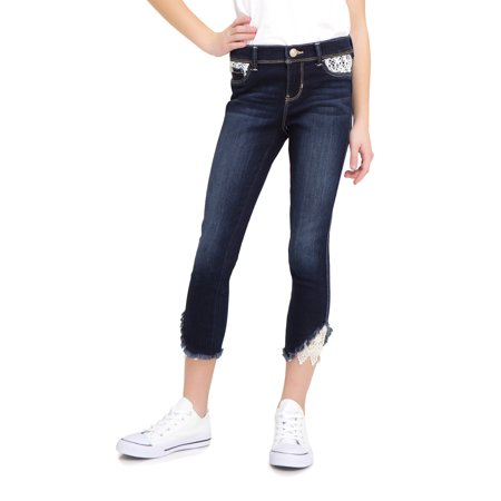 Jordache Crochet Hem Super Skinny Ankle Jean (Little Girls & Big Girls) (Big Star Jeans Clearance)