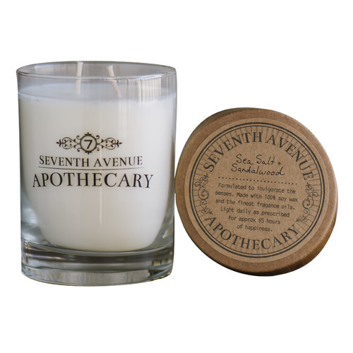 Seventh Avenue Apothecary Sea Salt and Sandalwood Soy Scented Jar Candle (Set of 2)