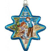 GDeBrekht 755-002 Nutcracker North Star Glass Ornament