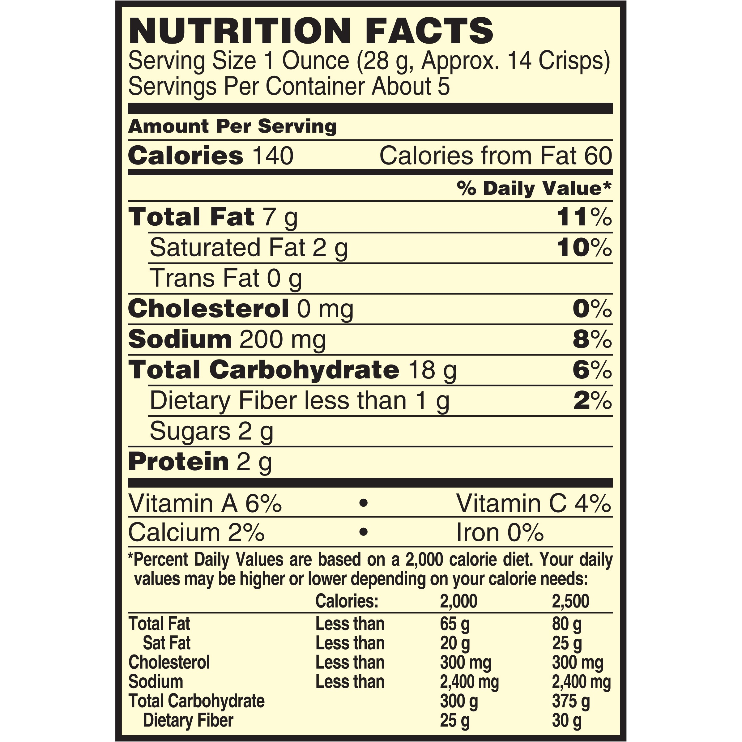 Pringles Snack Pack Nutrition Facts Nutrition Ftempo