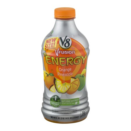 V8 V Fusion   Energy Orange Pineapple  46 0 Fl Oz