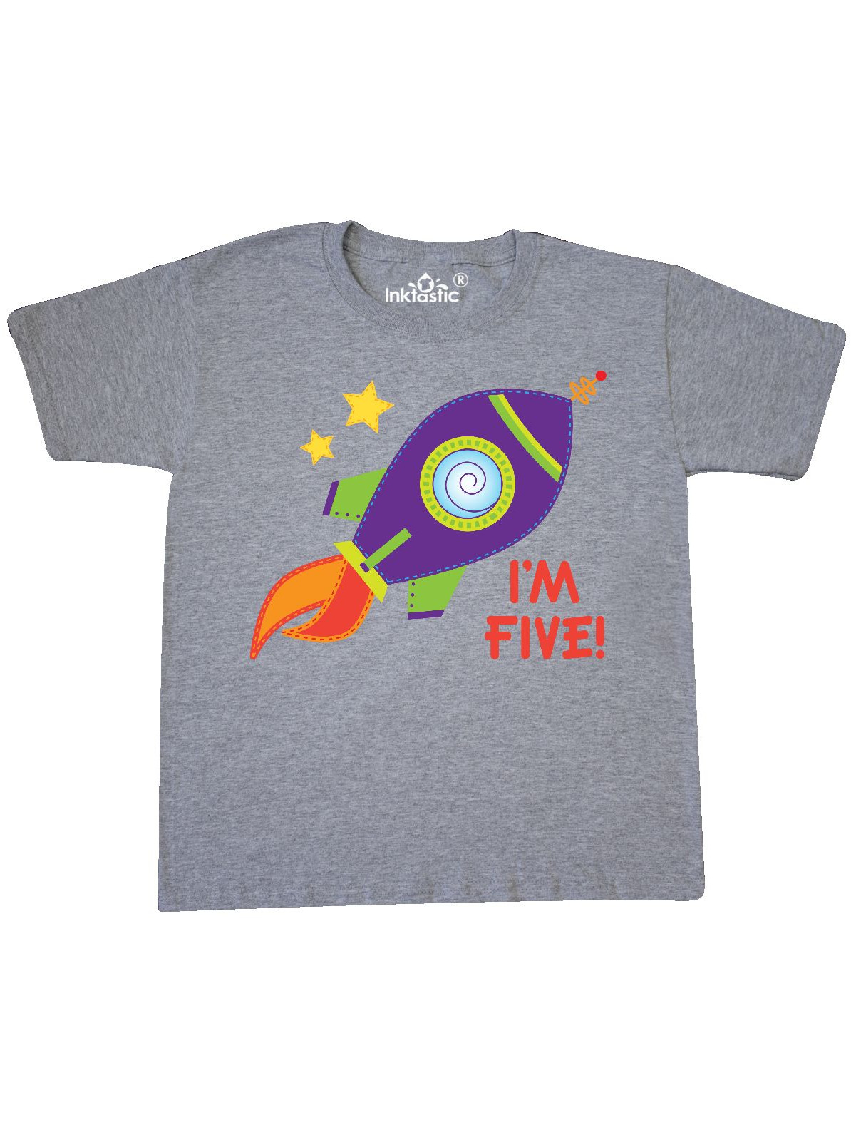 5th Birthday Rocketship 5 Year Old Space Youth T Shirt