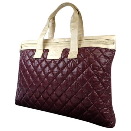Chanel Xl Quilted Bicolor Cocoon 217350 Bordeaux X Champagne Gold Tote Bag