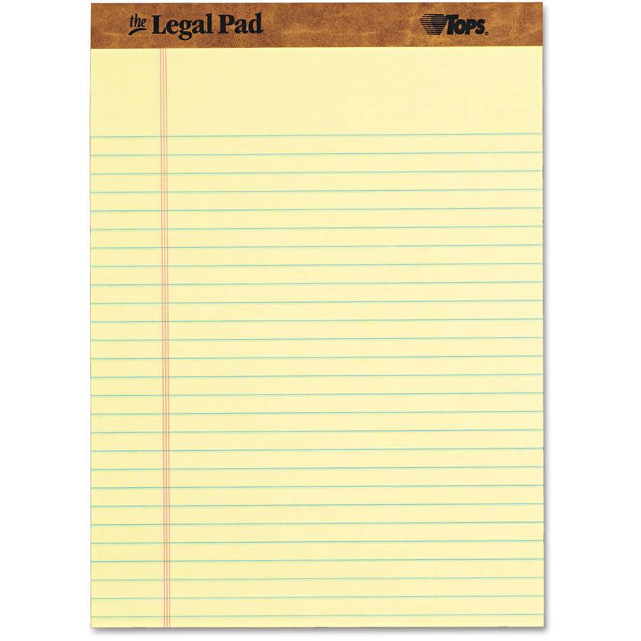 TOPS Paper Pads, Legal Rule, Letter Size, 50 Sheet Pads, Dozen