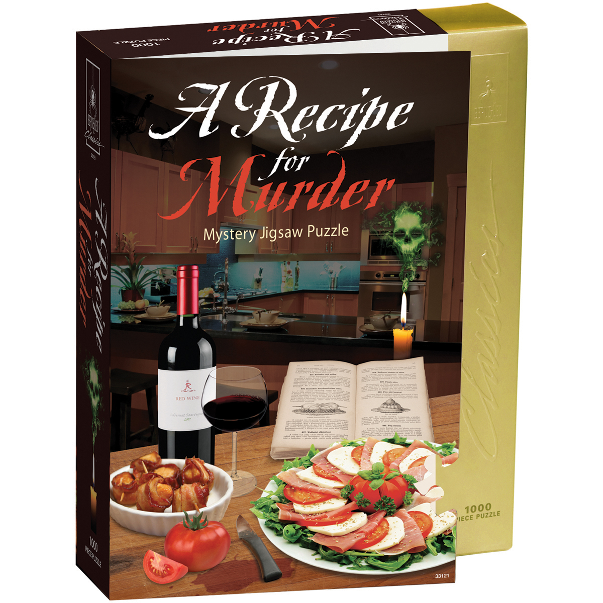 "Jigsaw Shaped Puzzle 1000 Pieces 23""X29""Recipe For Murder"