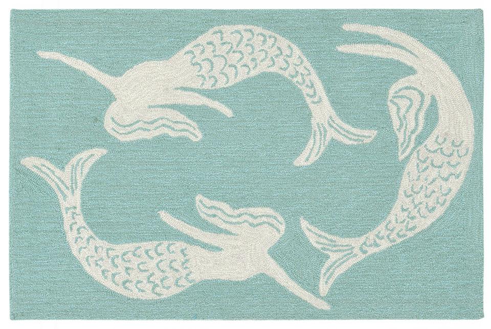 """Liora Manne Capri Mermaids Indoor Outdoor Doormat Blue 24""""X36"""" by Trans Ocean Import Company"""