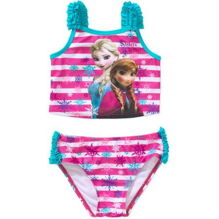 2888f0bff8d69 Disney Frozen - Disney Frozen Anna and Elsa Toddler Girl Tankini 2-Piece  Swimsuit - Walmart.com