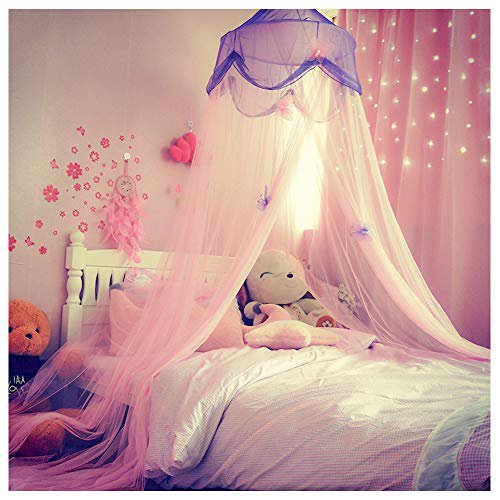 Amazon Com Kids Room Window Curtain Cute Pink Butterfly Sheer Curtain Drapes For Girls Bedroom Nursery Room Decor Window Treatment Translucent 1 Panel 78 L X 39 W Kitchen Dining