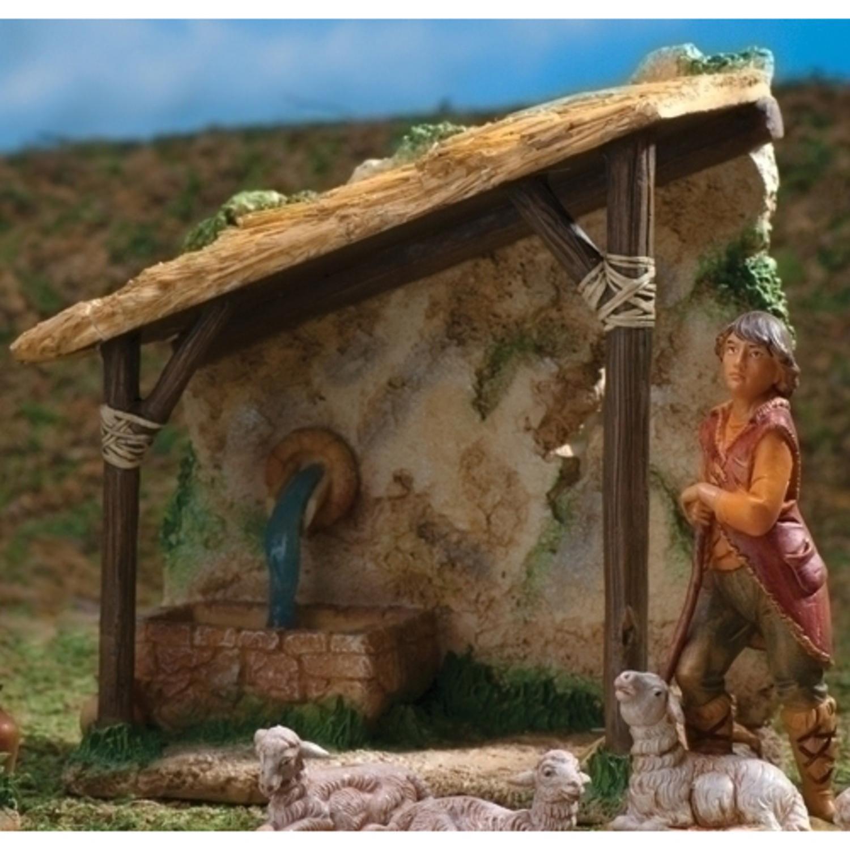 "Roman Pack of 2 Fontanini 5"" Shepherd's Shelter Christmas..."
