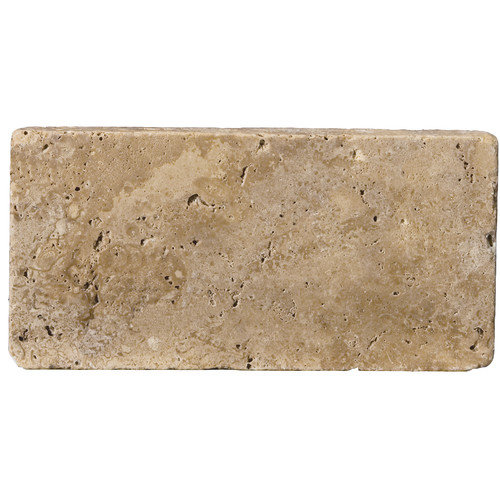 Emser Tile Natural Stone 8'' x 16'' Travertine Field Tile in Mocha