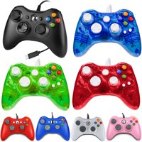 LUXMO Wired Xbox 360 Controller Gamepad Joystick Compatible with Xbox 360 /PC/ Windows 7 8 10