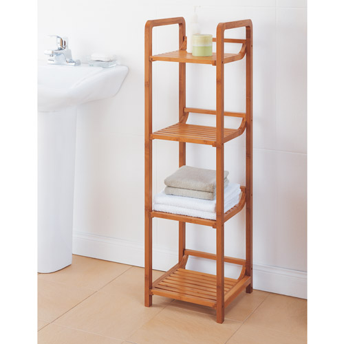 Neu Home Lohas Collection 4-Tier Tower, Carbonized Bamboo