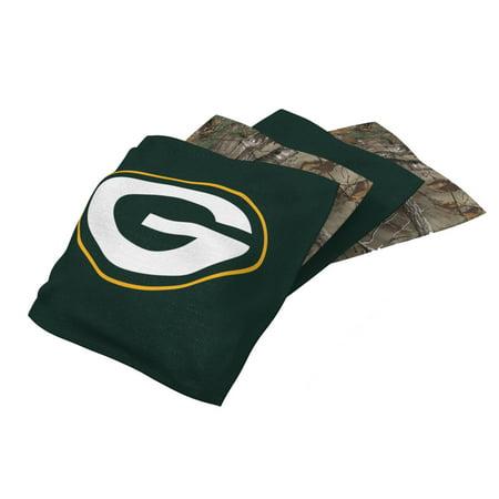Green Bay Packers 4-Pack Realtree Alternate Cornhole Bean Bags Set - No Size ()
