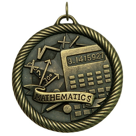 Hammond & Stephens Multi-Level Dovetail/Mathematics Value Medal, 2 Inches, Solid Die Cast, Silver ()