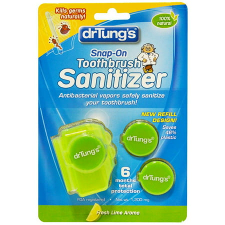 Dr. Tung's Snap-On Toothbrush Sanitizer 2 ea (Pack of