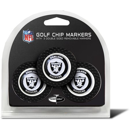 Team Golf NFL Oakland Raiders 3 Pack Golf Chip Ball Markers