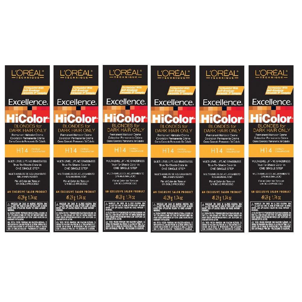 L'Oreal HiColor H14 Vanilla Champagne Permanent Color HC-05119 (6 Pack)