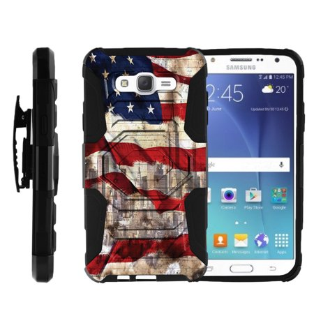 - Galaxy J7 Case | Galaxy J700 Case [Armor Reloaded] Galaxy J7 High Impact Rugged Holster Case with Built in Kickstand - American Flag NY