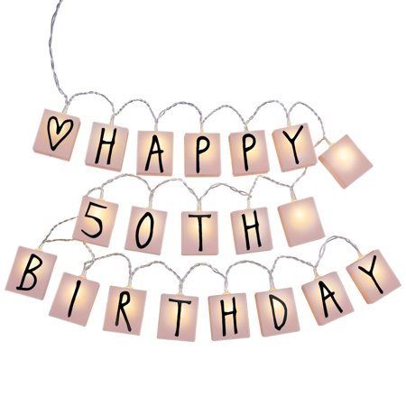 Custom Message Letter String Lights For Any Occasion, Battery Operated - Includes 20 Light Up Boxes with Letters, Numbers and Symbols