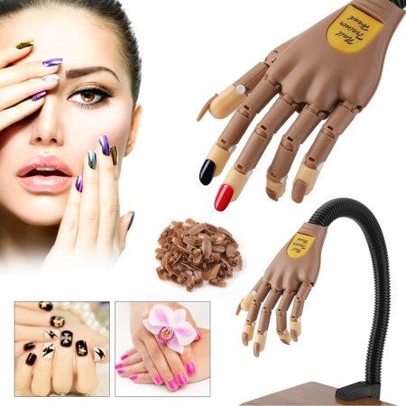 Hot Sale Practice Nail Art Hand Train Display Model Flexible