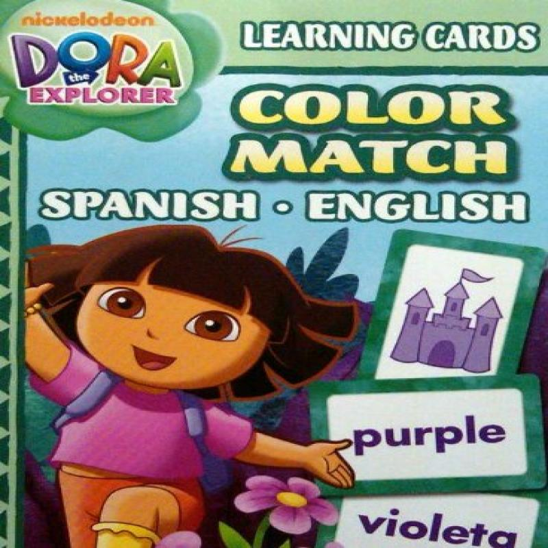 Dora Learning Cards Color Match Spanish English by