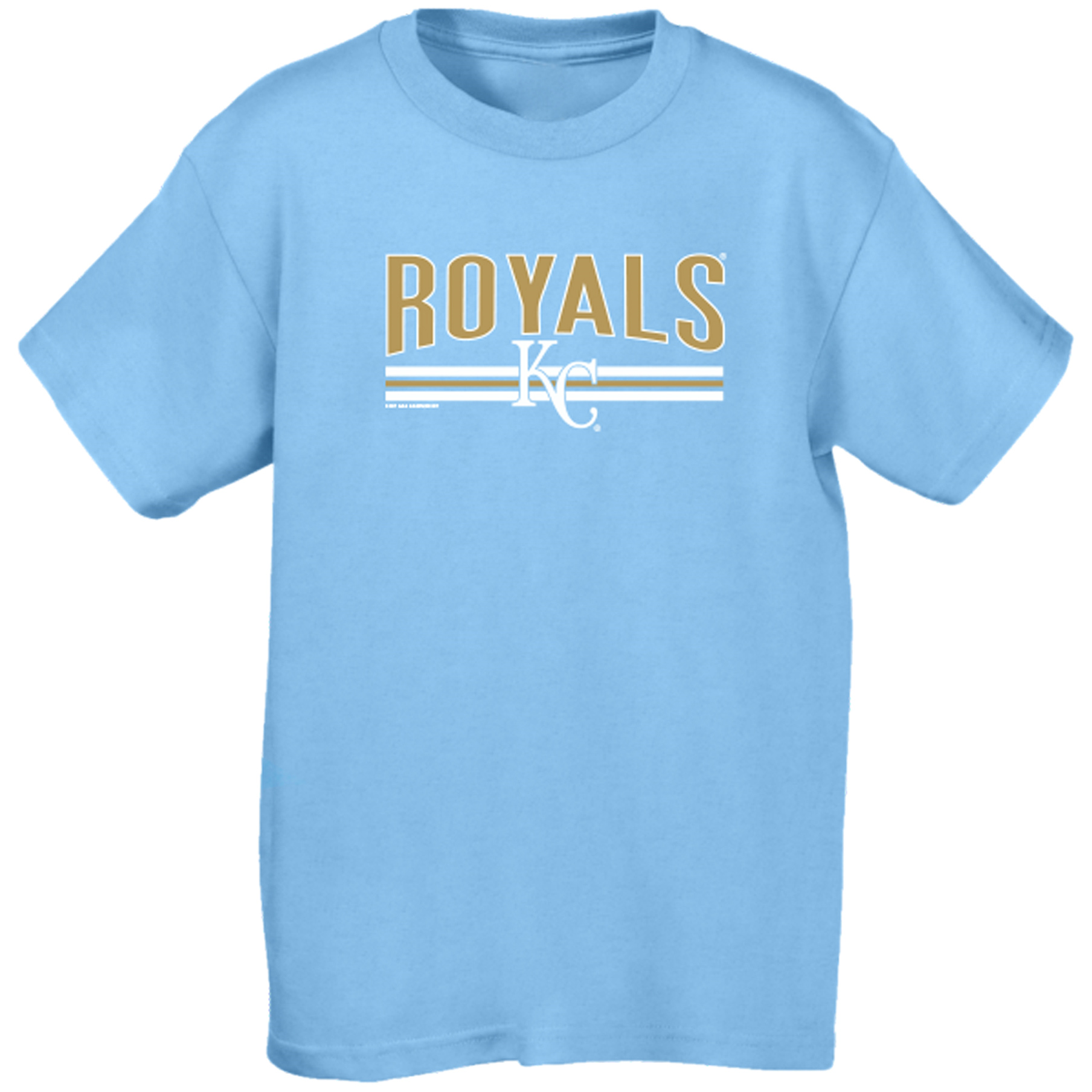 Kansas City Royals Soft as a Grape Youth On Base Crew T-Shirt - Light Blue