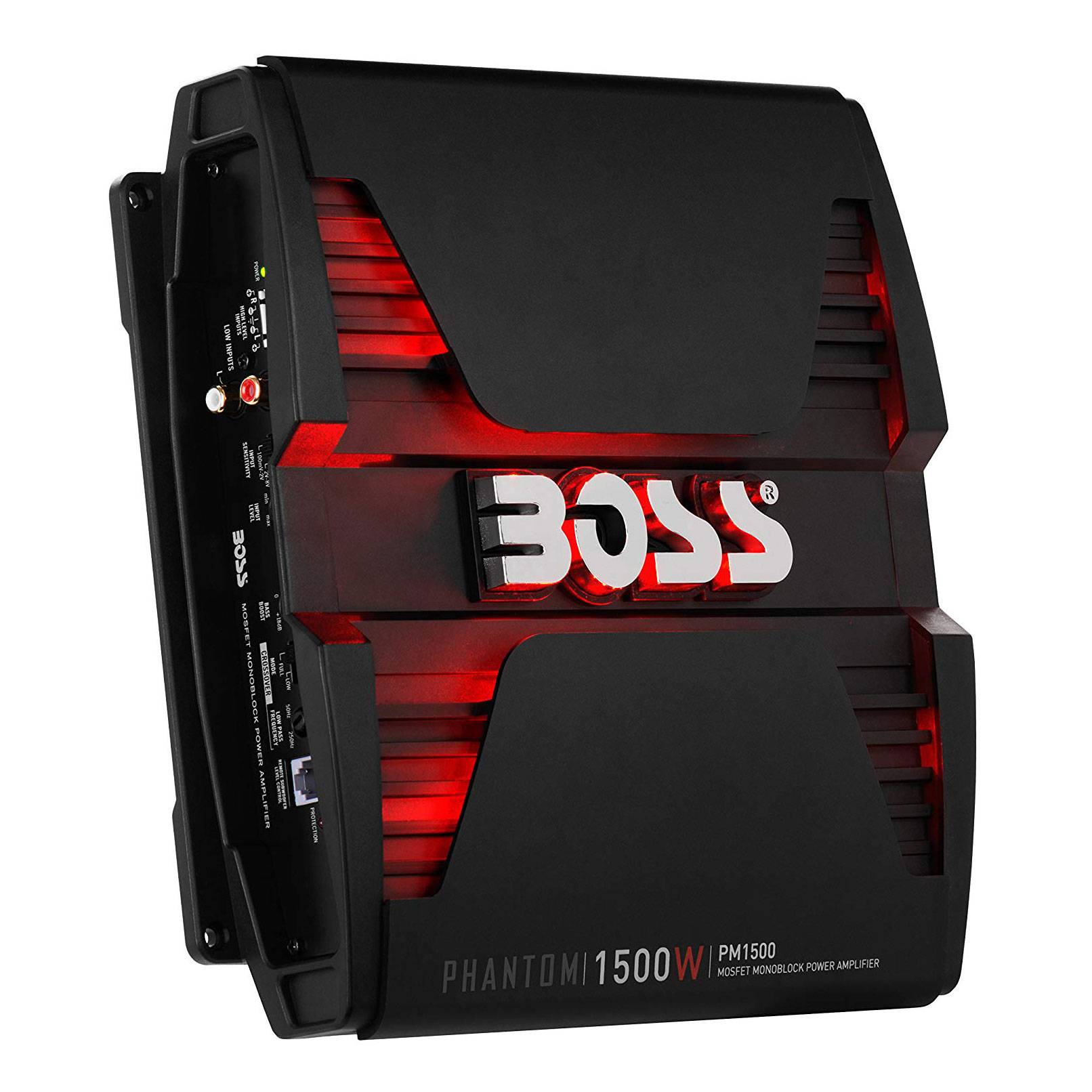Boss Phantom PM1500 1500W 2 Ohm Monoblock A/B LED Car Audio Amplifier w/ Remote