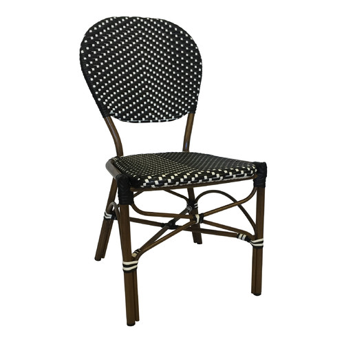 Café Bistro Chair Navy And White Image 2 Of 3