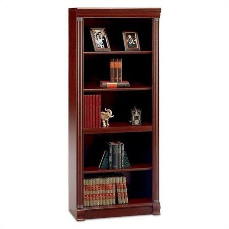 Kingfisher Lane 5 Shelf Wood Bookcase in Harvest Cherry ()