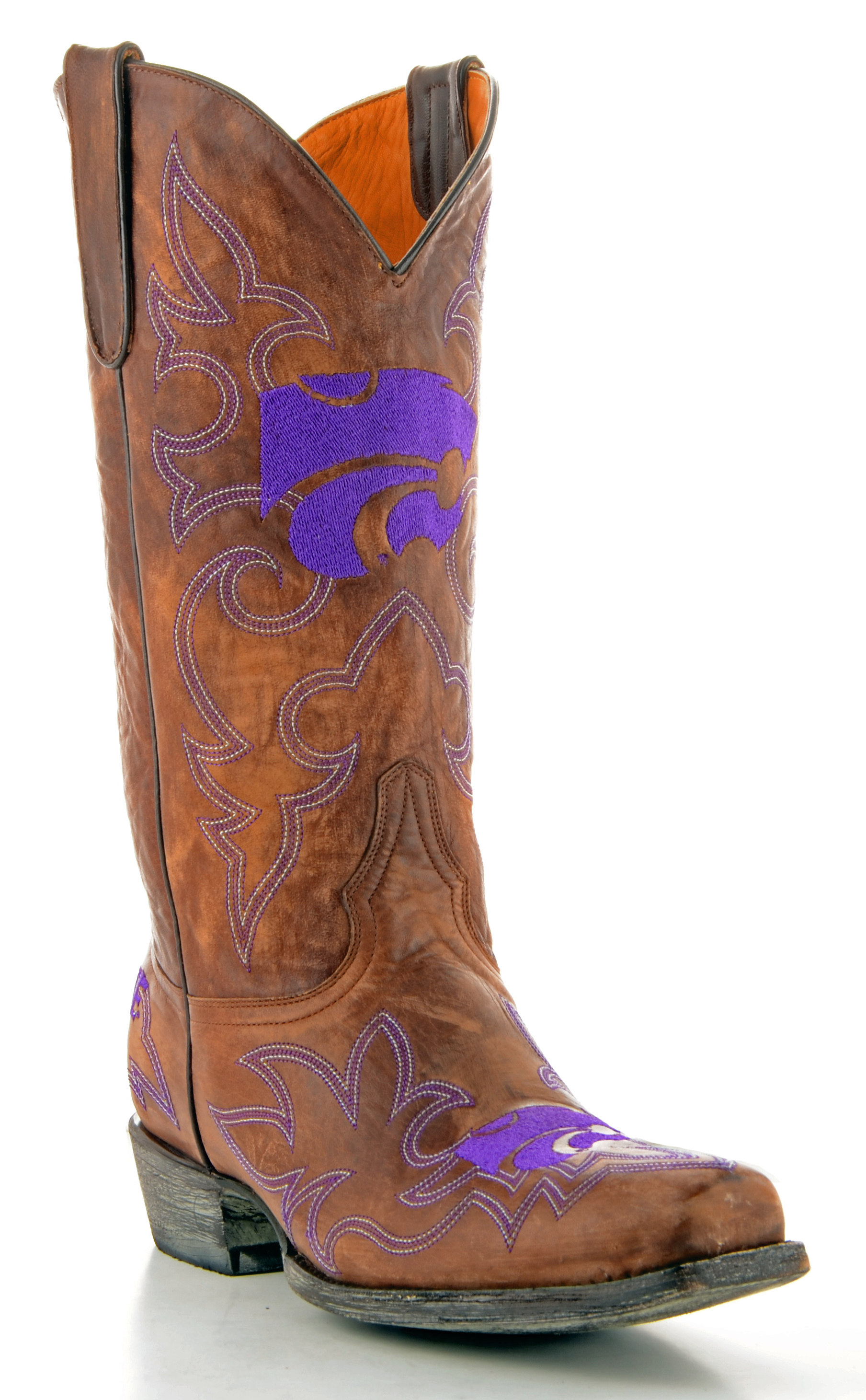 Gameday Boots Mens Brass Leather Kansas State Cowboy Boots (Size 8) Kst-M042-1 by GameDay Boots