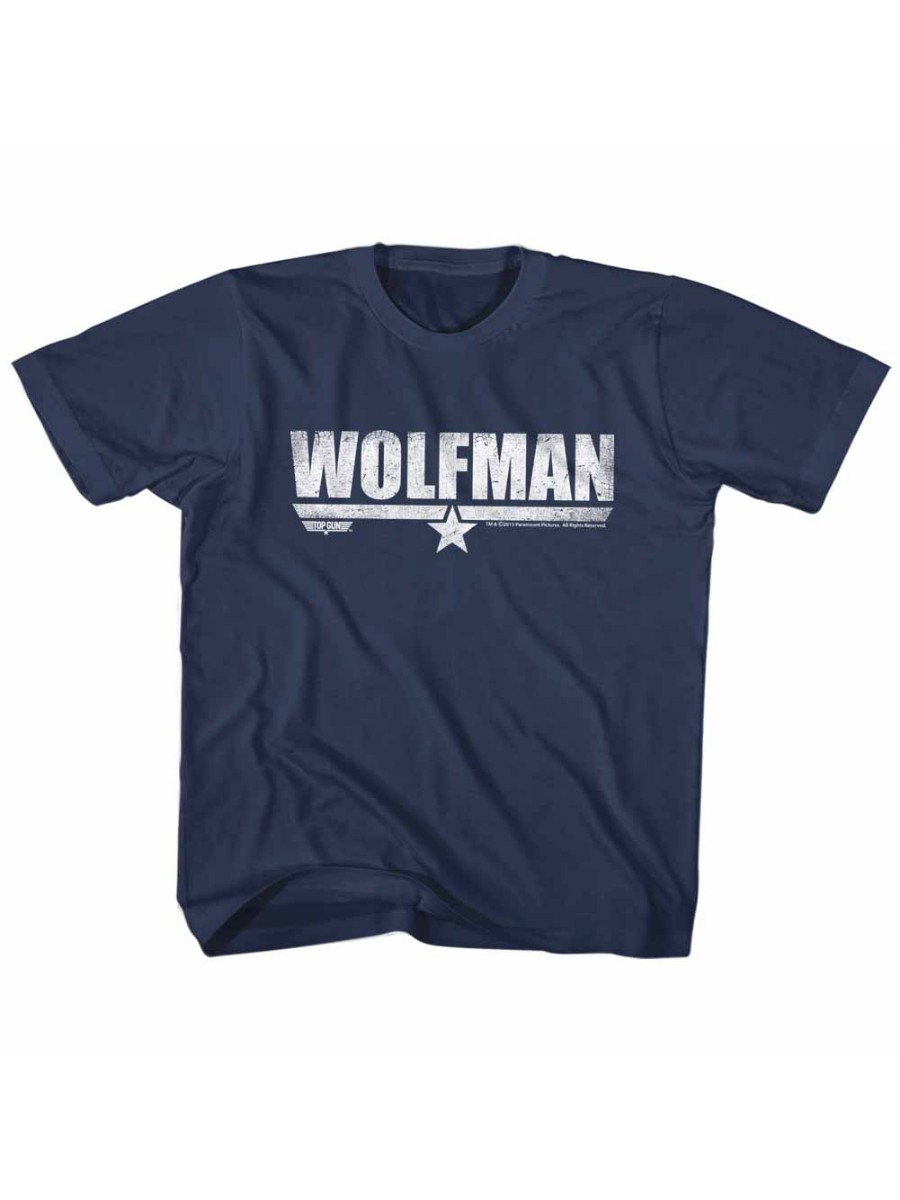 Top Gun Movie Action Drama Wolfman Navy Little Boys Toddler T-Shirt Tee