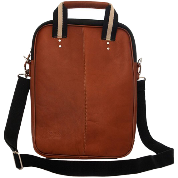 "Jill-e Jack Lenox 13"" Leather Laptop Portfolio (Tan)"