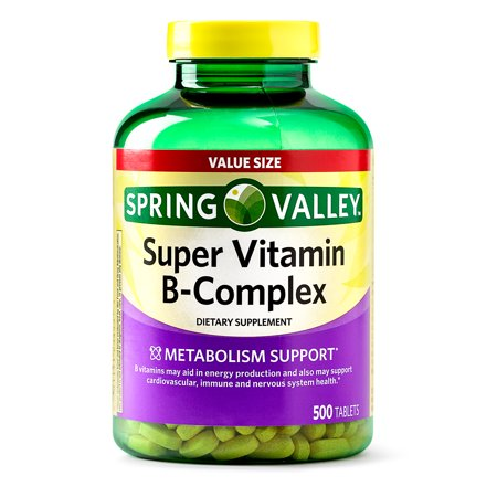Steroidal Complex - Spring Valley Super Vitamin B-Complex Tablets, 500 Ct