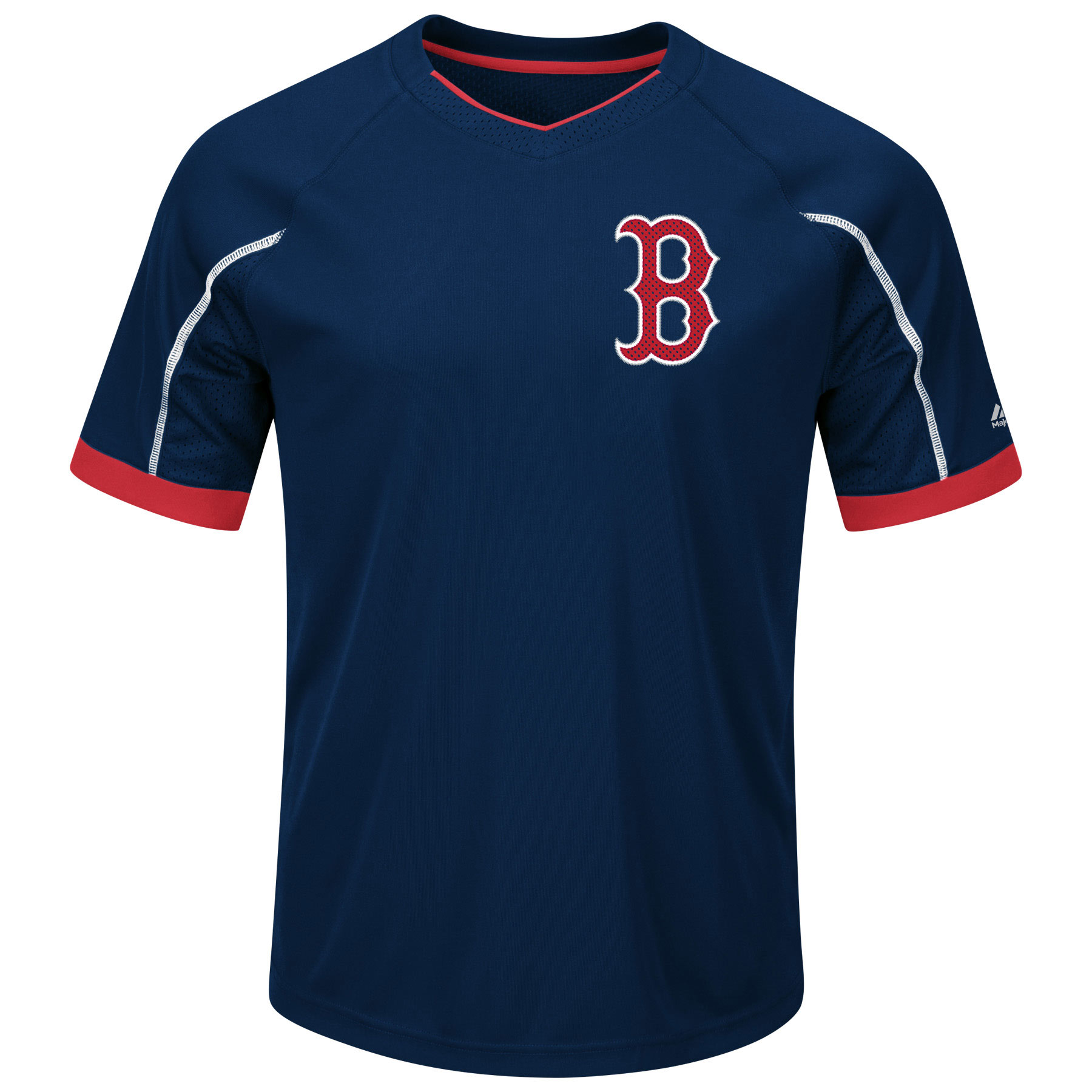 Boston Red Sox Majestic Big & Tall Emergence V-Neck T-Shirt Navy Red by Profile