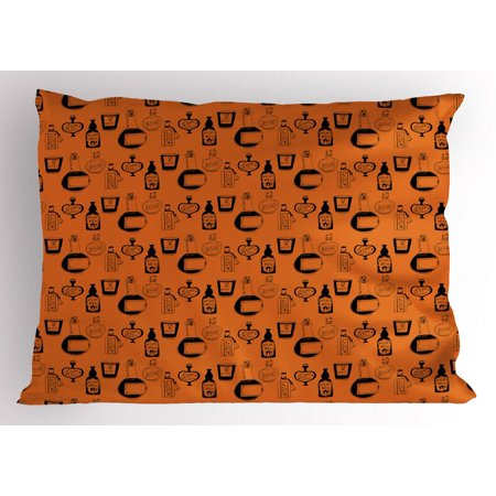Apothecary Pillow Sham, Halloween Themed Potions Sketch Style Mystical Bottles Fantasy Theme, Decorative Standard Size Printed Pillowcase, 26 X 20 Inches, Burnt Orange Black, by Ambesonne](Making Halloween Potion Bottles)