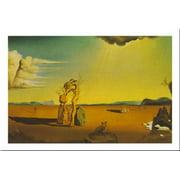 La Femme Nue Dans Desert by Salvador Dali 24x31 Art Print Poster