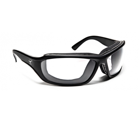 Image of 7 Eye Air Shield Derby Sunglasses, SharpView Clear Lens, Matte Black Frame,M-XL 24