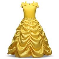 Girls' Princess Belle Costumes Princess Dress Up Halloween Costume