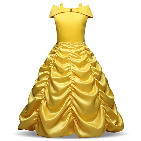 Asda Girls Halloween Costumes (Girls' Princess Belle Costumes Princess Dress Up Halloween)