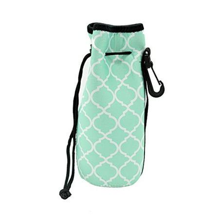 7b87b0b088c5 Water Bottle Sleeve, Carrier Cover Neoprene Water Bottle Drawstring ...