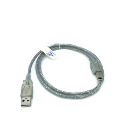 Kentek 3 Feet FT USB Cable Cord For Dell Photo all-in-one 720 725 810 922 924 926 942 Printers Clear