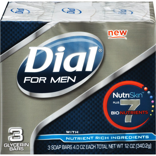 Dial For Men With Nutrient Rich Ingredients Bar Soap, 3pk