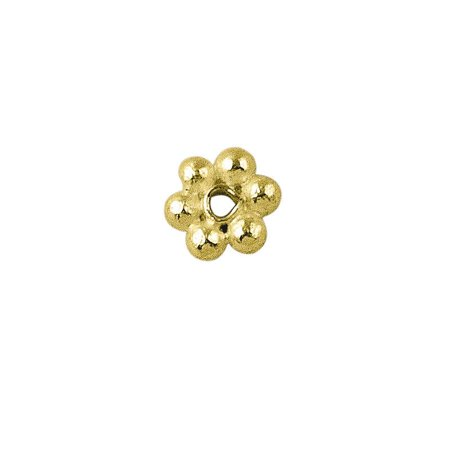 18K Gold Overlay Daisy Bead Spacer SG-102-6MM Bali Vermeil Spacer Beads