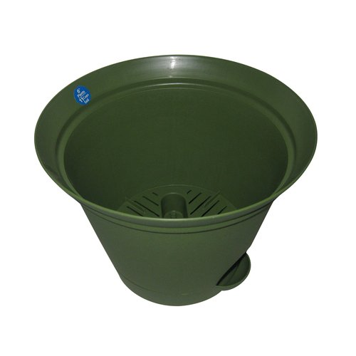 "Image of 13.9"" Self-Watering Planter, Green"
